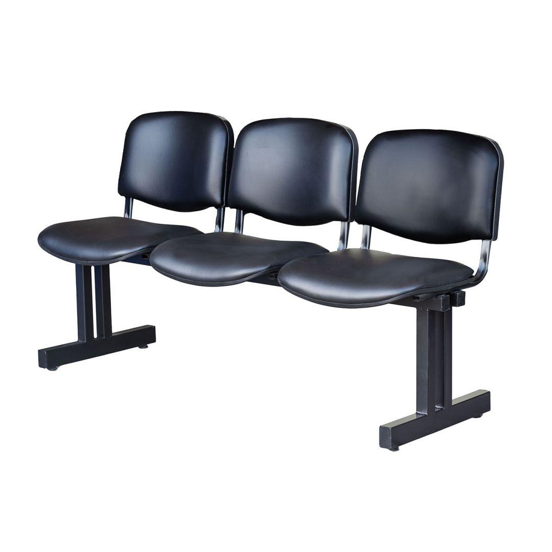 Tandem 3 asientos para espera oficina jm b16 tapizado for Asientos de oficina