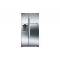 HELADERA COMBINADA NO FROST BOSCH KAG90AI20 608 LTS SIDE BY SIDE C/DISPENSER INOX