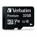 MICRO SD VERBATIM 32GB USH-I V 10 CLAS 10 W/ADAPT 44083