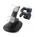 BASE JOYSTICKS CARGADORA DOBLE PS4 NETMAK NM-CH2