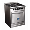 COCINA INDUSTRIAL PEABODY PC600 60CM 4 HORNALLAS INOX MULTIGAS