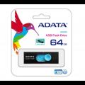 PENDRIVE 2.0 ADATA AUV220 64GB BLACK/BLUE AUV220-64G-RBKBL