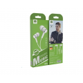 AURICULARES STEREO 3,5mm BLANCO WUW-R78