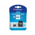 MICRO SD 32GB VERBATIM + ADAPTADOR SD CLASE 10 44083