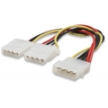 CABLE POWER INTERNO MANHATTAN DE 5.25 (M) A 5.25 (H) Y 3.5 (HEMBRA DEL FLOPPY)