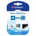 PENDRIVE 64GB VERBATIM FLASH NANO STORE N STAY 98711