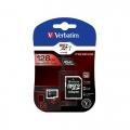 MICRO SD 128GB VERBATIM + ADAPTADOR SD CLASE 10 44085
