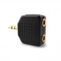 ADAPTADOR SPLITTER AUDIO 3.5MM 2 (H) 1 (M) IMEXX IME-41283