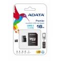 MEMORIA FLASH ADATA 16GB microSDHC CL10 C/ADAP AUSDH16GUICL10-RA1