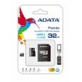 MEMORIA FLASH ADATA 32GB microSDHC CL10 C/ADAP AUSDH32GUICL10-RA1