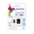 MEMORIA FLASH ADATA 64GB microSDHC CL10 C/ADAP AUSDX64GUICL10-RA1