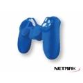 PROTECTOR DE SILICONA JOYSTICK PS4 NETMAK AZUL NM-SL6