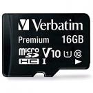 MICRO SD VERBATIM 16GB USH-I V 10 CLAS 10 W/ADAPT 44082