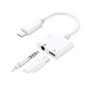 CABLE LIGTHNING A LIGTHNING Y 3.5mm (AURICULARES) WUW