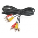 CABLE RCA X3 A RCA X3 3mts NETMAK NM-C33