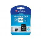 MICRO SD 16GB VERBATIM + ADAPTADOR SD CLASE 10 44082