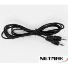 CABLE MINIPLUG 3.5Mm a 3.5Mm Reforzado 1m  Netmak NM-C66G/R