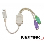 CABLE USB A 2 PS/2 NETMAK NM-C08