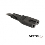 CABLE POWER TIPO 8 1.5M 220V NETMAK NM-C77