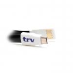 CABLE USB, MICRO /A, DUAL 23CM PLANO TRV  BLANCO/NEGRO