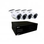 SIST DE SEGURIDAD OLEX KIT 4CH DVR + 4 CAMARAS INFRARROJO Y EXTERIOR HD 1080P + FUENTES + CABLES OL-KHD904P