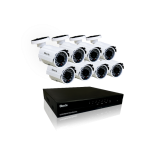 SIST DE SEGURIDAD OLEX KIT 8CH DVR + 8 CAMARAS INFRARROJO Y EXTERIOR FULL HD 1080P + FUENTES + CABLES OL-K7008/P / OL-KHD908-P