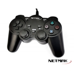 GAMEPAD NETMAK NM-2007U USB P/PC ANALOGICO + VIBRACIÓN