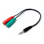 ADAPTADOR AUDIO DE AURICULAR Y MICROFONO 3.5MM NETMAK NM-C92