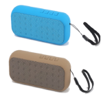PARLANTE BLUETOOTH MINI TEK CELESTE Y MARRON