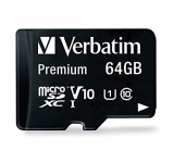 MICRO SD VERBATIM 64GB USH-I V 10 CLAS 10 W/ADAPT 44084