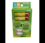 PILAS RECARGABLES NETMAK AA 1000 MAH LITIO MICRO USB NM-EC10