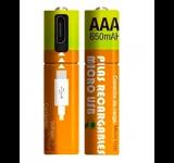 PILAS RECARGABLES NETMAK AAA 650 MAH LITIO MICRO USB NM-EC65