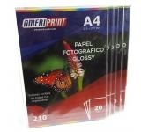 PAPEL FOTOGRAFICO AMERIPRINT A4 210 GR GLOSSY X 20 HOJAS