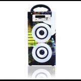 PARLANTE BLUETOOTH ALIVER ALIV-02-2 2X5W FM/USB/SD/AUX MINIDESK TOWER MADERA