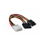 CABLE SATA POWER DOBLE NETMAK NM-C07