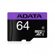 MEMORIA FLASH ADATA 64GB microSDXC/SDHC CL10 C/ADAP AUSDX64GUILC10-RA1