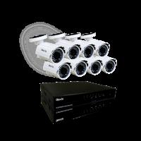 SIST DE SEGURIDAD OLEX KIT 8CH DVR + 8 CAMARAS INFRARROJO Y EXTERIOR HD 720p + FUENTES + CABLES OL-K7008/P / OL-KHD908-P