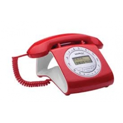 TELEFONO CON CABLE INTELBRAS TC8312 RETRO ROJO