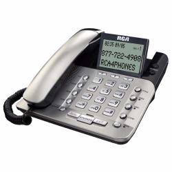 TELEFONO ID CON CABLE RCA C/ 2 LINEAS PLATA 1223P-2L