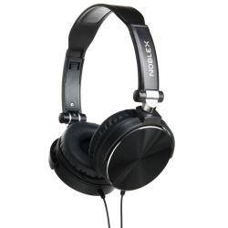 AURICULAR C/MIC ON EAR NOBLEX AJUSTABLE 3.5MM HP97 GRIS/NEGRO/NEGRO CON VERDE