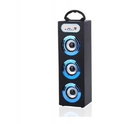PARLANTE BLUETOOTH ALIVER ALIV-06-2 3X5W FM/USB/SD/AUX TOWER 1 BLUE