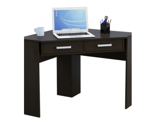 Mueble para pc esquinero c 2 cajones color wengue mc708w for Mueble esquinero para pc